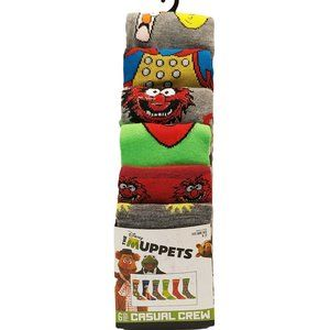 The Muppets Casual Crew Socks-6 Pairs